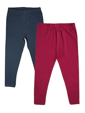 Red;Black Ankle Length Leggings