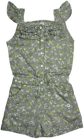 KiddoPanti Cotton Striped Onesies For Girl - Multi