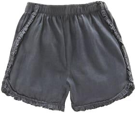 Grey Regular Shorts Shorts