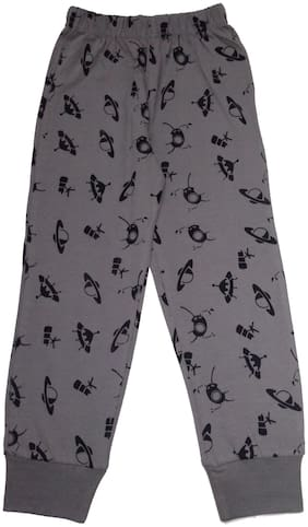 KiddoPanti Space ship AOP printed Pyjama;Grey;2-3Y