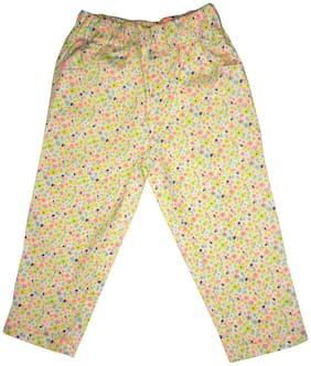 KiddoPanti Girl Cotton blend Printed Capri - Multi