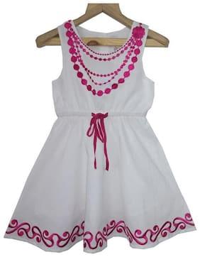 KiddoPanti Sleeveless Embroidery Dress White 2-3Y
