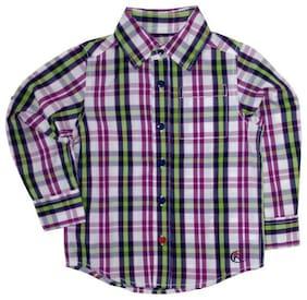 KiddoPanti Boy Cotton Checked Shirt Multi