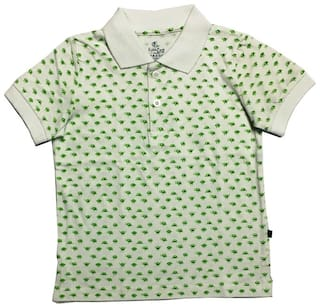 KiddoPanti Boy Cotton Printed T-shirt - Green