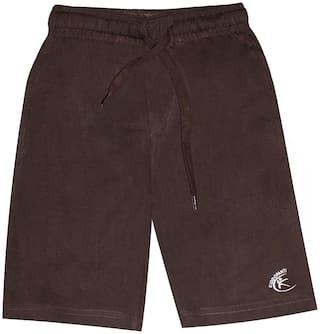 KiddoPantiBoys Knit Knee length Basic Short (Brown)