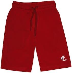 KiddoPantiBoys Knit Knee length Basic Short (Red)