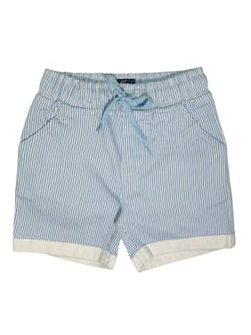 KiddoPanti Boy's Basic Striper Pull Up Short;Lt Blue Stripe