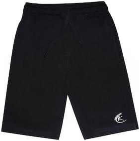 KiddoPantiBoys Knit Knee length Basic Short (Black)