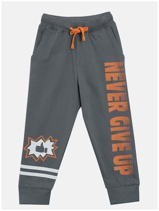 KiddoPanti Boy Cotton Track pants - Grey