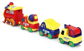 Kiditos Cartoon Train Truck Set Toy For Kids - 4 PC Set (Magnetism Connect)