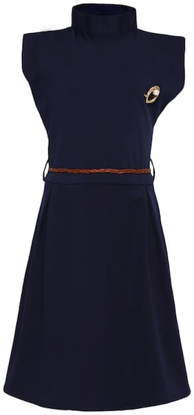Kidling Rayon Solid Frock - Blue