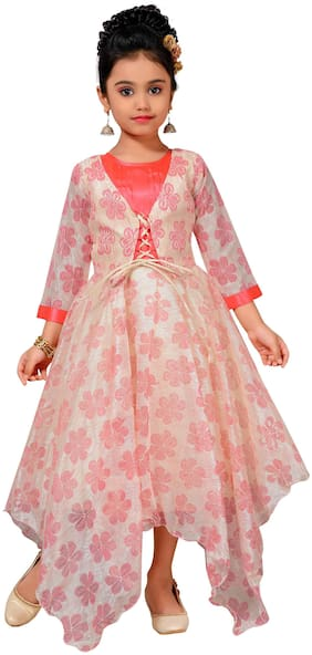Kidling Kids Party Wear Gown for Girls