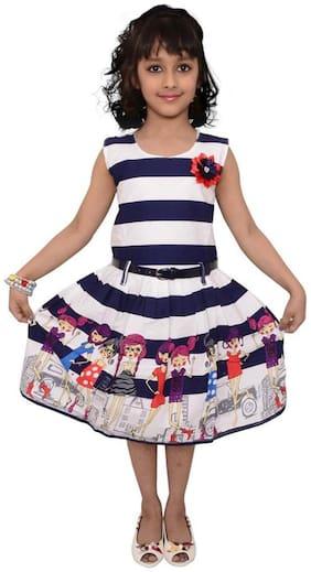 Arshia Fashion Multi Cotton Sleeveless Knee Length Princess Frock ( Pack of 1 )