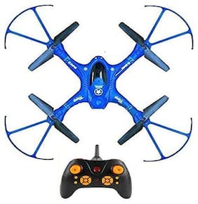 Kids Drone Flying Toy 6 Axis Gyro RC Headless Quadcopter - No Camera - QY 66 D1 Drone (Camouflage Blue)