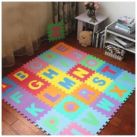 KIDS EDUCATIONAL BIG ALPHABET MAT COLORFUL PUZZLE FOAM TEACHING EDUCATION TOOLS TOY (26 PCS) FOR GIFT