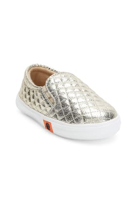 ZAVO Gold Girls Casual Shoes