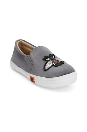 ZAVO Grey Girls Casual Shoes