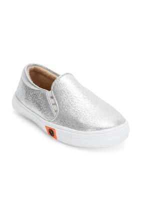 ZAVO Silver Girls Casual Shoes