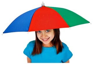 Kids Hat Umbrella - Rainbow Design
