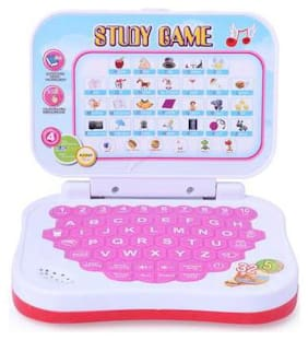 Kids Learning Study Laptop Game with 5 modes of Learning |Musical Battery Operated Toy - Assorted (Color may vary)