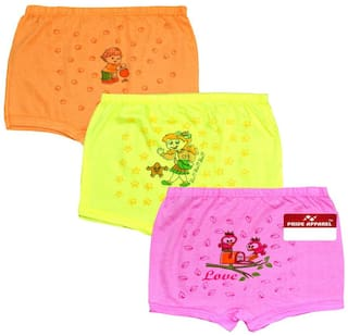 Pride Apparel Panty & bloomer for Girls - Multi , Set of 3