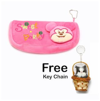 49db9cce2 Kids Small Trendy Bag / Hand Bag Pink Soft Velvet Touch Multi  Purpose(DIFFERENT CARTOON