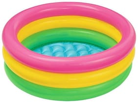 Kids Swimming Pool 2ft Bath Tub Inflatable Pool (1Pc) Multicolor