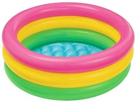 Kids Swimming Pool 2ft Bath Tub Inflatable Pool (1Pc) Multicolor