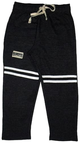 BLUEOYE Boy Solid Trousers - Black