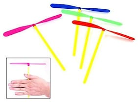 KIDZ 10 Pcs/Set Plastic Dragonfly Propeller Outdoor Flying Toy