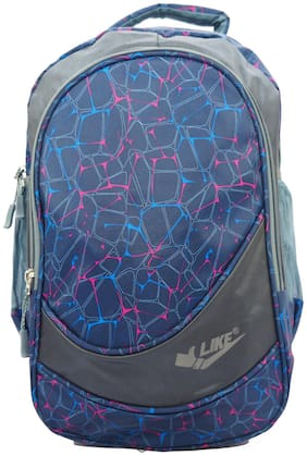 Kidz 17 LTR Grey and Blue School Bag