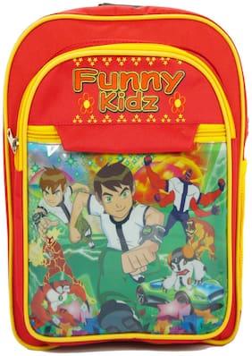 Kidz 19 LTR Red School Bag