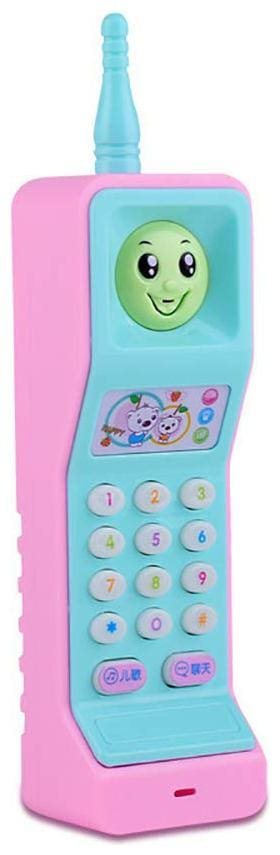Kidz Educational Toys, Cartoon Music Colorful Light Voice Electronic Mobile Phone Educational Kids Toy (Multicolor)