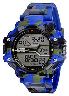 Kidz LED Sports Military Watch blue (Assorted Dial Design)