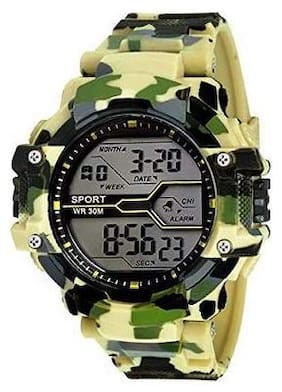 Kidz LED Sports Military Watch Cream (Assorted Dial Design)