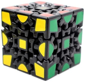Kidz Magic Cube 3X3 V1 Gear, Black