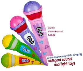 Kidz Musical Microphone Singing Mic Toy with Lights and Clear Sound