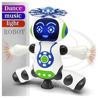 Kidz Super Battery Operated Dancing Robot Warrior for Kids with Music;Led Lights Rotation at 360 deg and Walking