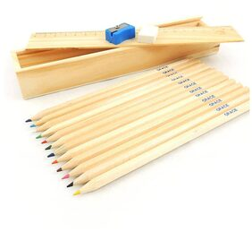 Kidz Wooden Pencils with wooden Box