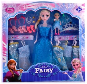 3ccc586f346 Barbie Girl Doll toy With Doll Dresses Set Fo ... 549. 999-45%. KidzFan  Fashion Doll Frozen Lovely Fairy