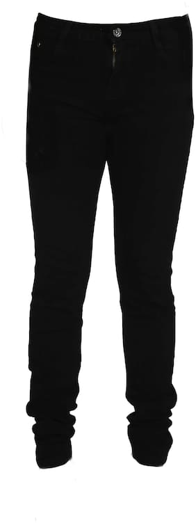 FCK-3 Basic Slim fit Jeans for Girls - Black