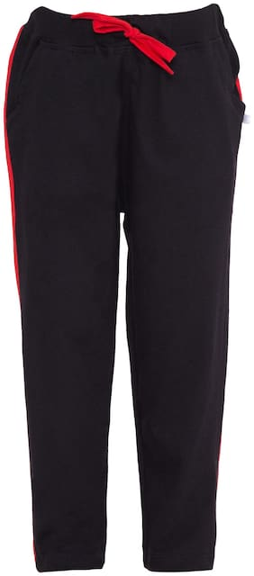 KISSERO Boy Cotton Track pants - Black