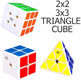 KITI KITS Speed Puzzle Cube (2x2 3x3 tringle white with sticker)