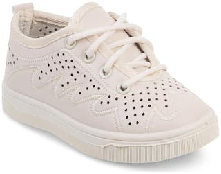 Kittens Beige Girls Casual Shoes