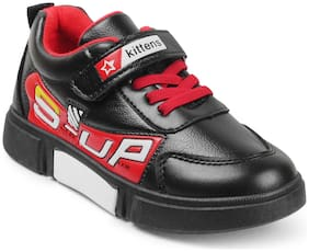 KITTENS Black Boys Sports Shoes