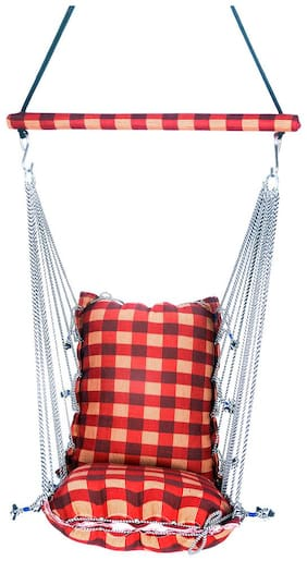 Kkriya Home Decor Regular Swing in Yellow and Red . Completely Washable After removing Cushion