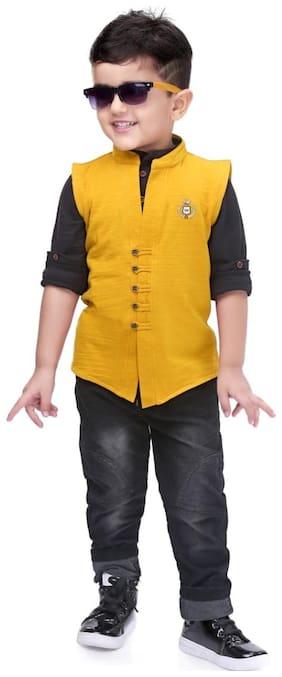 Kooka Kids Baby boy Top & bottom set - Yellow