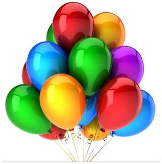 Kosh Multicolour Latex Balloons (Pack of 50)