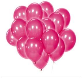 Kosh Solid Balloon(darkPink, Pack of 100)