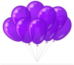 Kosh Solid Purple Balloon (Purple, Pack of 100)